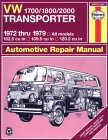 'Haynes 1700cc - 1800cc - 2000cc VW Aircooled Owners Manual' click here to order !