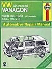 Vanagon Workshop manual - click here to order !